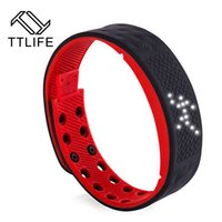 Wholesale Pedometers Calories Burned - TTLIFE TW2 Smart Wristbands Smartband Phone Pedometer Sleep Monitor Thermometer Track Calories Burned Flex Fitness for Android
