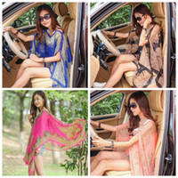 Wholesale Poncho Bikini - Women Paisley Sarong Scarves Sunscreen Shawl Print Bikini Cover Ups Poncho Beach Towels Wrap Sexy Pashmina Swimwear Beachwear OOA1280