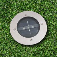 ingrosso recinzione di giardinaggio-Luci sotterranee principali impermeabili solari di 3 LED Illuminazione sotterranea sotterranea del terreno per la lampada all'aperto del pavimento del giardino di Yard della lampada del recinto della lampada