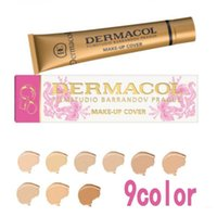 Wholesale Dc Studios - 2017 DERMACOL Concealer DC HIGH COVERING Waterproof MAKE UP Cover FOUNDATION LEGENDARY FILM STUDIO 30g in 9 colors Limited Edtion DHL Towoto