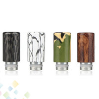Wholesale Colored Atomizers - Colored Drawing Aluminum Drip Tip for Electronic Cigarette Tank Atomizer New Arrival 510 Drip tips Mouthpiece 12.1MM diameter DHL Free