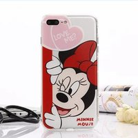 Wholesale Iphone Donald - Cartoon Donald Duck Mickey mouse TPU painting phone case For iphone 6 6S 7 plus iphone 5S silicone case back protective cover shell