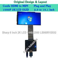 Wholesale Printer Sharp - HDMI to MIPI DSI Converter Adapter Driver Board for Sharp LCD Display 6 inch 2K LS060R1SX02 1440*2560 VR 3D Printer Raspberry Pi PLC China