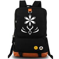 Wholesale Miku Racing - Snow Miku backpack Kawaii sky town school bag Nice girl daypack Cartoon schoolbag Outdoor rucksack Sport day pack