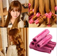 Wholesale Pink Sponge Curlers - 2017 wholesale newest flowers do not hurt the sponge curlers hair curls hair sponge hair curlers
