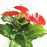 yemek masaları ücretsiz gönderim toptan satış-Ücretsiz Kargo Yapay Çiçek Sahte Çiçek Süs Oturma Odası Yemek Masası Duvar Aksesuarları Gelin Düğün Set Noel Ev Dekorasyon