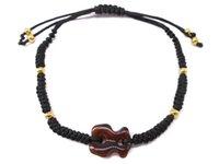 Wholesale Handmade Resin Beads - spain bear Bracelet selected item cute brown bear For Women Rope Bracelet adjustable Chain Handmade Bracelet