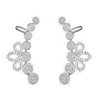 Wholesale Ear Cuffs Cz - KIVN Fashion Jewelry CZ Cubic Zirconia Ear Cuff Ear Crawler Climber Earrings for Women Chirtmas Birthday Girls Mothers Day Gifts