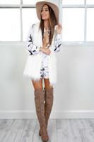 Wholesale High Quality Leather Coats Women - Wholesale-New 2017 Winter Women Fur Coat European warm Fur Vest High quality white fur White plus Size Ladies Clothing FS1084