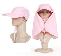 Wholesale Sun Visors Women - Hat man in the summer sun devil hat outdoor cover face sun visor sun hat fishing men women cap