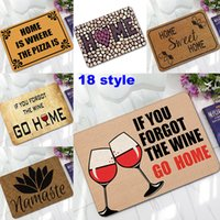 Wholesale Carpet Door Mats Wholesale - 18 Design Home Door Mat Natural Rubber Bath Mats HOME Letter Living Room Bedroom Bathroom Kitchen Balcony Corridor Carpets 60*40cm WX9-90