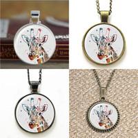 gafas de jirafa al por mayor-10 unids Jirafa ilustración Art Glass Photo Necklace keyring bookmark gemelo pendiente pulsera