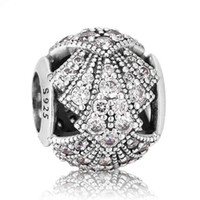 Silver oriental food - Authentic Sterling Silver Bead Charm Openwork Oriental Fan With Crystal Beads Fit Women Pandora Bracelet Bangle DIY Jewelry HKA3646