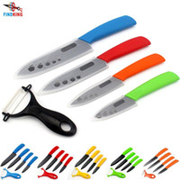 """Wholesale Zirconia Knife Blade - D011 Top quality Gifts Zirconia black blade colorful handle 3"""" 4"""" 5"""" 6"""" inch + Peeler + covers ceramic knife kitchen knives set"""
