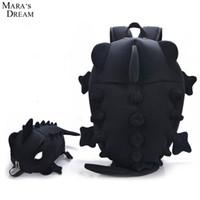 Wholesale Dream School - Wholesale- Mara's Dream 2017 Women Backpacks Cartoon Animal Shoulder School Bag For Teenagers Girls Boys Chameleon Lizard Travel Bag