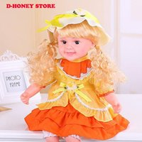 Wholesale Adorable Reborn Baby Girl - Adorable reborn babies talking doll toys 50CM soft touch smart touch singing making baby sound dolls for girls birthday gift