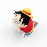 Wholesale Luffy Plush - Wholesale- Original TSUM Japan Anime One Piece Luffy Trafalgar Law Stuff Mini Plush Toy Birthday Gift Phone Screen Cleaner
