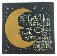 Wholesale Wall Plaque Chalkboard plaque sign quot I love you to the moon and back again to infinity and beyond forever and ever quot