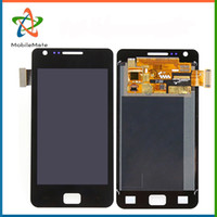 Wholesale Galaxy Sii Replacement - Free DHL Shipping LCD Display+Touch Screen Digitizer For Samsung Galaxy S2 SII i9100 Full Assembly Replacement Repair Parts Black&White
