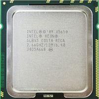 xeon sunucu cpu toptan satış-X5650 Orijinal Intel Xeon X5650 SLBV3 Işlemci Altı Çekirdek 2.66 GHz LGA1366 12 MB L3 Önbellek sunucu CPU