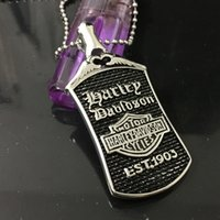 Wholesale Jewelry Initials Men - American retro harley motorcycle man titanium steel pendant necklace male punk personality jewelry
