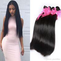 Wholesale Remy Pack Hair - 4 Bundles Pack Straight Weave Brazilian Hair 10A Top Grade Virgin Unprocessed Human Hair Amazing Brazilian Remy Straigth Hair