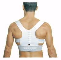 apoyos para la espalda al por mayor-2019 mejor precio Ortesis Médica Corsé Volver Brace Corrección de la postura Hombro Brace Sport Postura magnética Soporte de espalda superior Corrector