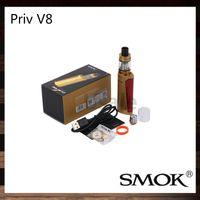Wholesale Smok Dual Coils - Smok Priv V8 Kit With 3ml TFV8 Baby Tank 60W Priv V8 Mod V8 Baby M2 Coil Dual LED indicators