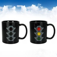 Wholesale Changing Lights - WholesaleTraffic Lights Color Changing Coffee Mugs Magic Tea Cups Home Kitchen Gift Black,Perfect for Coffee, Tea DHL Free Shipping