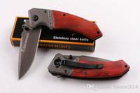 ingrosso vendita di coltelli di brunitura-Vendita calda coltello brunitura F82 coltello tascabile pieghevole knfe rescue coltello da campeggio coltello 440blade spedizione gratuita