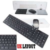 2.4G Wireless Ultra Slim Portable Mercado Avançado Branco Teclado e Mouse Combo Kit Receptor USB para PC PAD Mini Keyboard