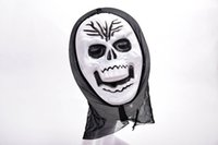 Funny Full Face PVC Masque de terrorisme effrayant réaliste Halloween Death Ghost Witch Grimace Scream Masks Party Mask Cosplay Costume Prop