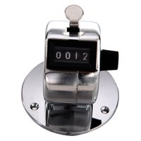 Wholesale Mechanical Click Counter - Wholesale- CSS Round Base 4 Digit Manual Hand Tally Mechanical Palm Click Counter