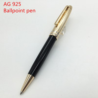 Wholesale Plastic Grade - Top Grade pen classic Golden lines metal Ballpoint Rollerball pen 925 stationary supplies metal pen free shipping