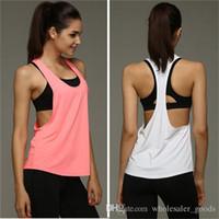 Wholesale Tank Tops Wholesalers For Women - Bodybuilding gym fitness muscle stringer vests Pure Color Vest Fitness Mens Clothing Cotton Vest Sports Vest Training Clothing For men