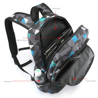 Wholesale Fashionable Backpacks For Men - Men Backpack for teenagers polyester geometric bookbags brand schoolbag laptop backpack men's fashionable bagpack