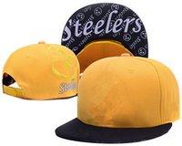 Wholesale Pittsburgh Hats - 2017 Newest Men's Women's Basketball Snapback Baseball Snapbacks pittsburgh Football Hats Mens Flat Caps Adjustable Cap Sports Hat mix order