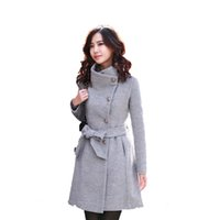 Wholesale Women Woolen Cotton Jacket Winter Warm Plus Sizes Coats for Ladies Fashion Elegant Office Women Coat