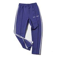 Wholesale Hip Hop Zip Pants - Palm Angels Track Pant Men Women Fashion Stripes Casual Pants Black Blue Ankle-Zip Pants Hip Hop Bottoms Jogger Pant PXG1025