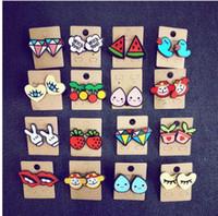 Wholesale Tin Can Wholesalers - Hip hop acrylic stud cute animal fruits diamond stud earrings many styles can choose