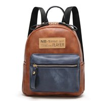 Wholesale Leather Canvas Rucksack - Hot Fashion Casual PU Leather Women Backpack Printing Letter Girls School Backpack Female rucksack Travel Bag