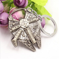 Wholesale Millennium Falcon Ship Barkey Keychain Star Wars Han Solos Keyrings Bottle Opener Keychain with Zinc Alloy