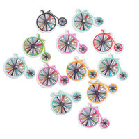 Wholesale Clothing Embellishments Wholesale - Kimter Mixed Wheel Pattern Wooden Sewing Buttons With 2 Holes 2.3x3cm For Crafts Children'S Clothing Embellishments Pack Of 50pcs I677L