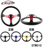 """Wholesale Sport Steer - RASTP -350MM 14"""" MOMO Sport Steering Wheel Deep Corn Racing Car Universal Steering Wheel Deep Corn Drifting RS-STW010"""