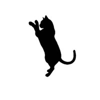 Wholesale Cat Laptop Decal - Wholesale 10pcs lot Animal Pet Cat Kitten Like A Baby Playing Car Sticker for SUV Motorcycle Door Laptop Car Styling Reflective Vinyl Decal
