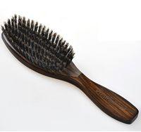 siyah kürek toptan satış-Yeni Kıl Paddle Saç Fırçalar Saç Şekillendirici Araçları Masaj Doğal Siyah Ahşap Saç Fırçalar Ücretsiz Kargo