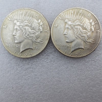 Wholesale Batman Dark Knight - Wholesale 5pieces bale High quality Batman Dark Knight Harvey's 1922 Peace Dollar Two Face Coin Copy Crafts Free Shipping