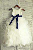 sıcak kız topu toptan satış-Balo Çiçek Kız Elbise Bahçe Kanat Yeni Prenses Organze Düğün El Yapımı Ruffles Gerçek Görüntü Özel Boyut Kat Uzunluk Katmanlı Sıcak