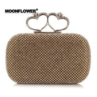 Wholesale Silver Clutch Bags For Prom - 2017 Rhinestone Luxury Clutch Evening Bag Fashion Hand Purse Designer Prom Party Handbags for Women CPA808