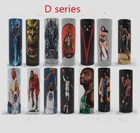 Wholesale heat label - heat shrink label wrap Ecig vape battery PVC wraps Stickers custom Battery skin Super hero cheap price hot selling items